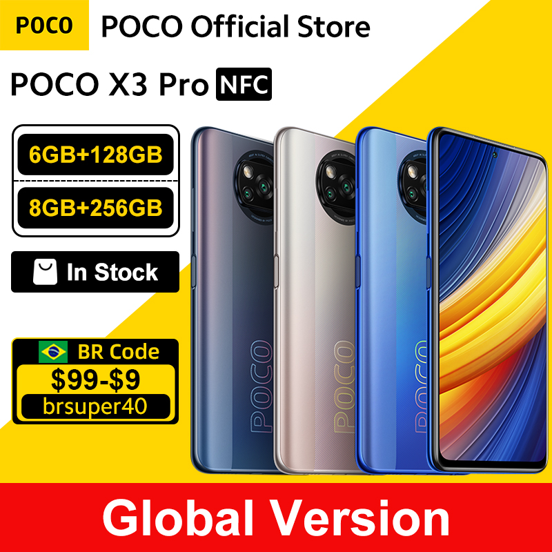 Global Version POCO X3 Pro 128GB / 256GB Snapdragon 860 Smartphone NFC...