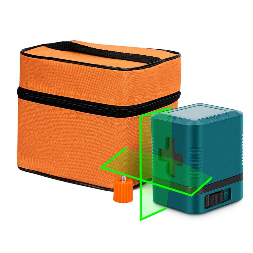 Linha transversal do laser 1v1h da linha transversal do laser do nível do laser do verde de 2 linhas linha vertical e horizontal do auto-nivelamento com saco