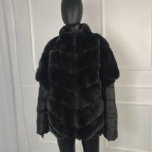 real fur coat women real natural rex rab