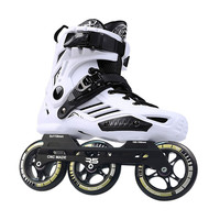 3 wheels roller skates shoes with R5 3X110mm inline speed skates frame 85A 110mm PS skating wheel ILQ 11 bearing slalom Patines