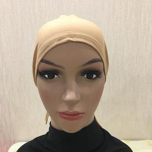 Image 4 - Cotton Under Scarf Hijab Inner Hat Women Muslim Bandana Ninja Beanie Bone Arab Bonnet Hats Cap Bandage Beanies Skullies Muslim