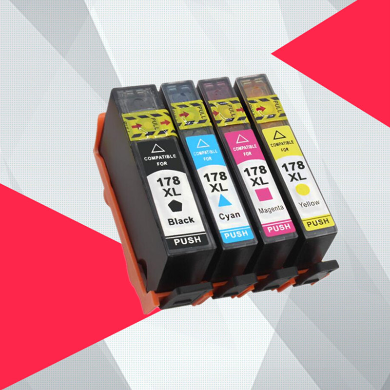 Compatible Ink Cartridge for HP 178 for HP178 178XL for <font><b>hp178xl</b></font> Photosmart 5510 5515 6510 7510 B109a B109n B110a Printer image