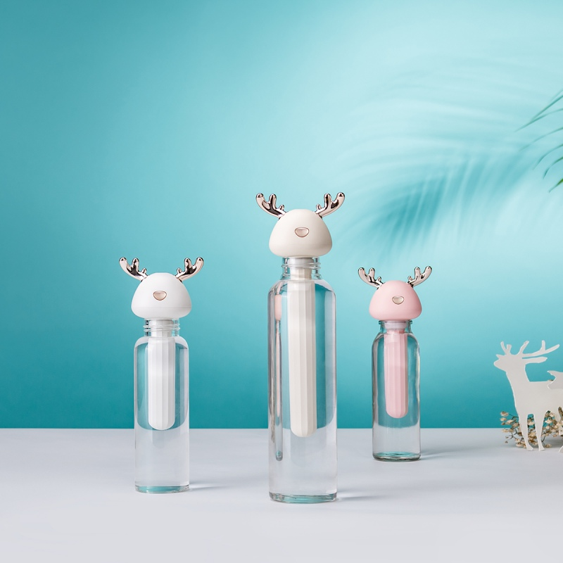 Cute Antler Design Portable USB Cool Mist Humidifier Air Diffusers For Travel Home Office Hotel Car Without Water Bottle New