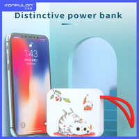 Cartoon Power bank 10000mah Built In Cable Portable Charging Mini PowerBank USB Cat Cute Power Bank Mobile Charger For Phone