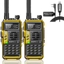 2 قطعة Baofeng UV-S9PLUS 10 واط/8 واط ثلاثي الفرقة 136-174/220-260/400-520 ميجا هرتز الهواة المحمولة CB ناقل موجات الراديو اسلكية تخاطب 5R