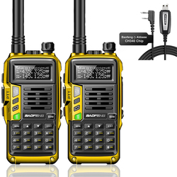 2pcs Baofeng UV-S9PLUS 10W/8W Tri-Band 136-174/220-260/400-520MHz Amateur Portable CB Radio Transmitter Walkie Talkie 5R