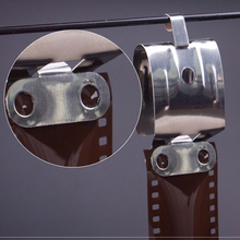2pcs 필름 공기 건조 Darkroom 처리 장비 120 135 35mm 네거티브 페이지 필름 스테인레스 스틸 클립 스트레이트 리드