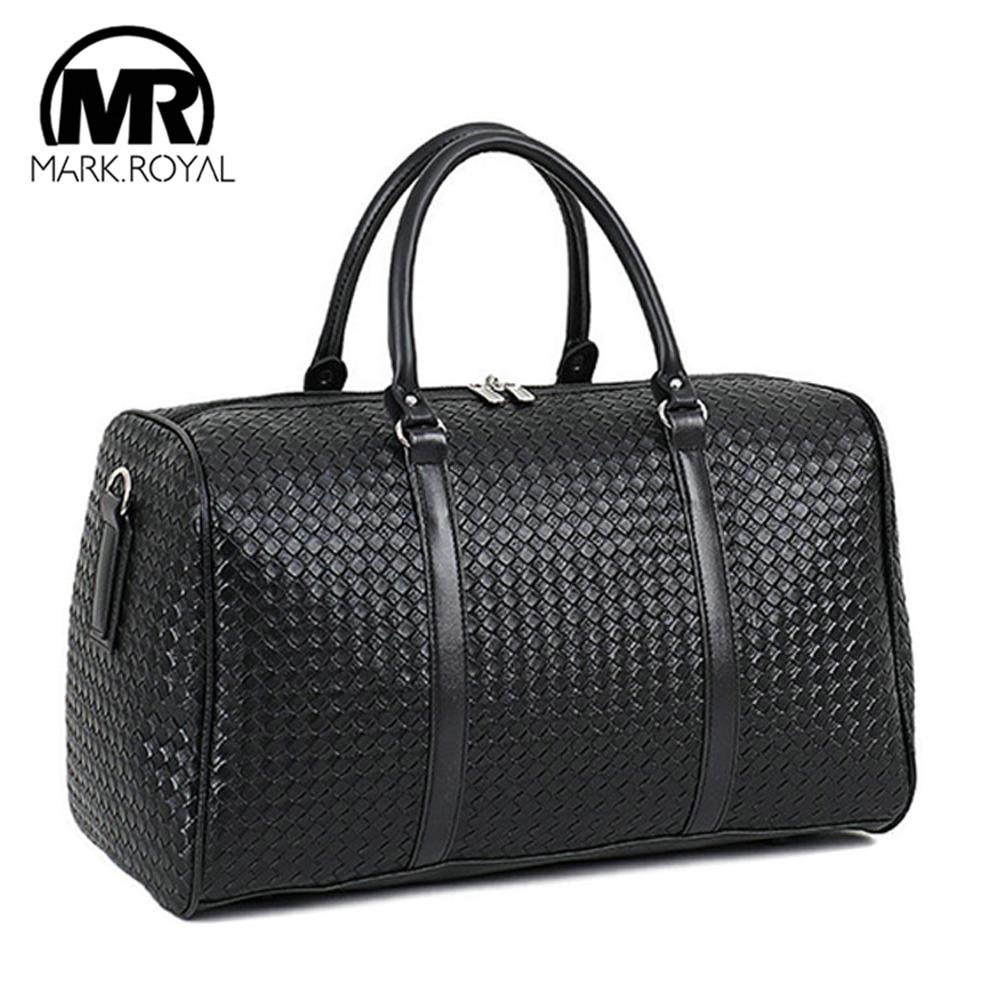 MARKROYAL Large Capacity PU Leather Travel Bag Multifunctional Waterproof Shoulder Bag For Men Tote Luggage Duffle Bags