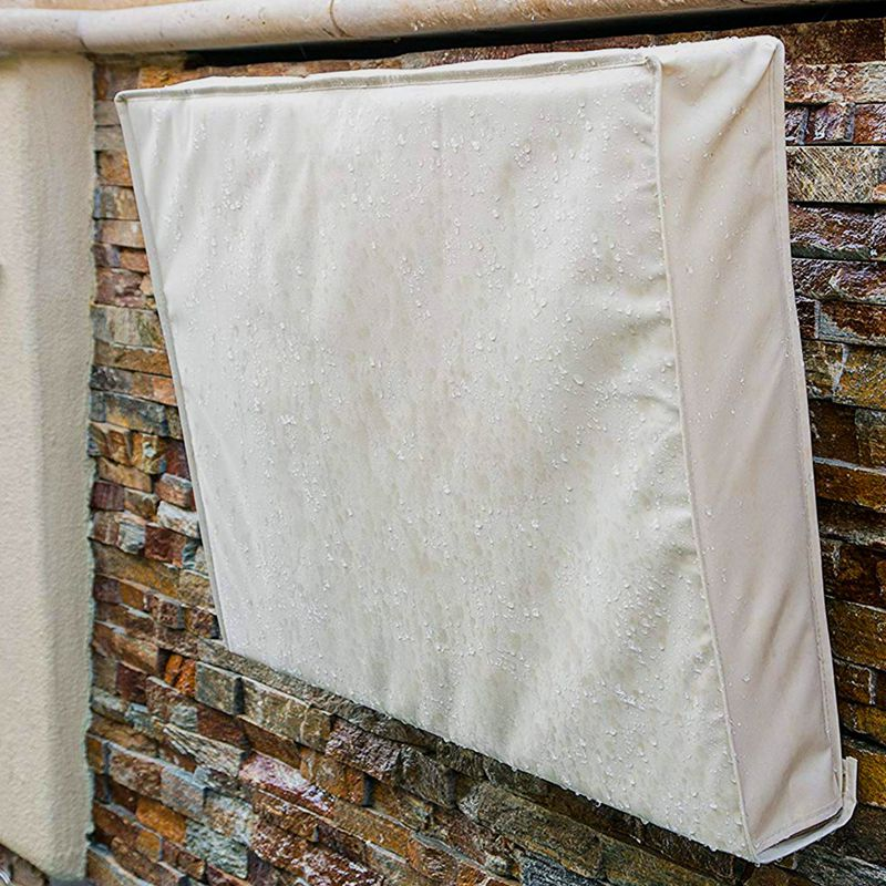 Outdoor TV Cover 55 inch   58 inch Beige Weatherproof Universal Protector for LCD  LED  Plasma Television Screens. Built in Bo|TV Covers| |  - title=