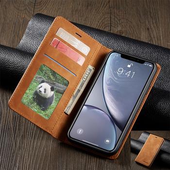 Luksusowe magnes skórzane etui z klapką telefon dla iPhone Xs Xr X R 11 12 Mini pro Max 8 7 6 6s Plus 5 S se 2020 portfel wizytownik pokrywa tanie i dobre opinie Zhonglibao CN (pochodzenie) Strong magnet 360 Coque Accessory Capa Etui Funda Carcasa Cartera Apple iphone ów Matowy Zwykły