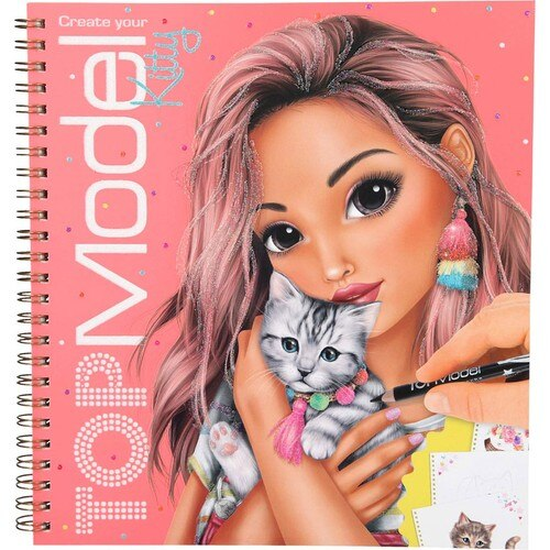 Topmodel Kitty Coloring Book 10469 Andrea Levy Create Model Colouring Book Ballet Design Popstar Hand Painted Graffiti Painting