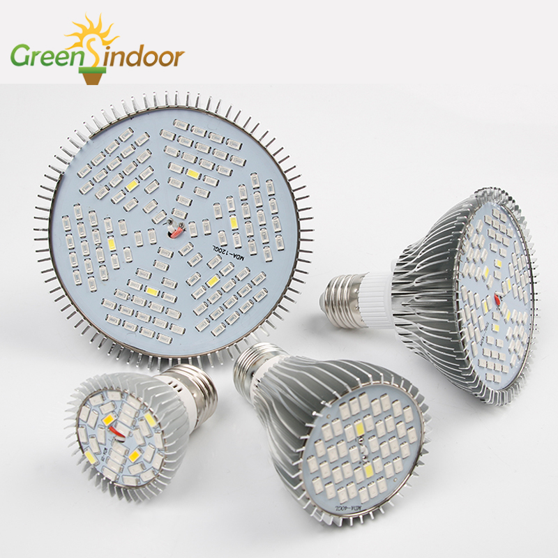Spectrum Led Grow Light Bulbs Indoor Lights For Plant E26 E27 Phyto Lamp 80W 50W 30W Grow Tent For Growing Lamps Indoor Plants