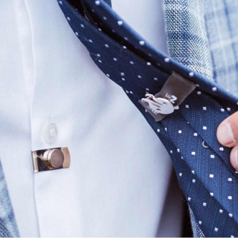 Clip De Corbata Invisible Clips De Corbata De Camisa De Metal De Acero Inoxidable Fijados Autom/áticamente Para Hombres Accesorios Regalos 2 Clips De Corbata Magn/éticos Para Hombres Invisibles