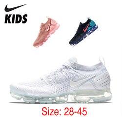 Nike Air Vapormax Flyknit 2 enfants chaussures de course à pied respirant Original coussin d'air enfants chaussures de sport de plein Air hommes baskets