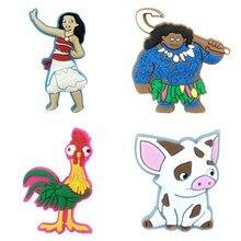 50pcs Moana Cartoon Figures Shoe Charms Shoe Decoration Nolvelty Shoe Accessories Crocse Accessories
