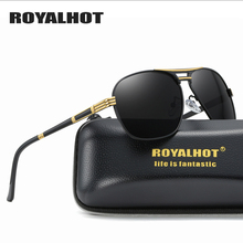 RoyalHot Polarized Sunglasses Men Women Oval Aloy Frame Sun Glasses Driving Shades Oculos masculino Male 90092
