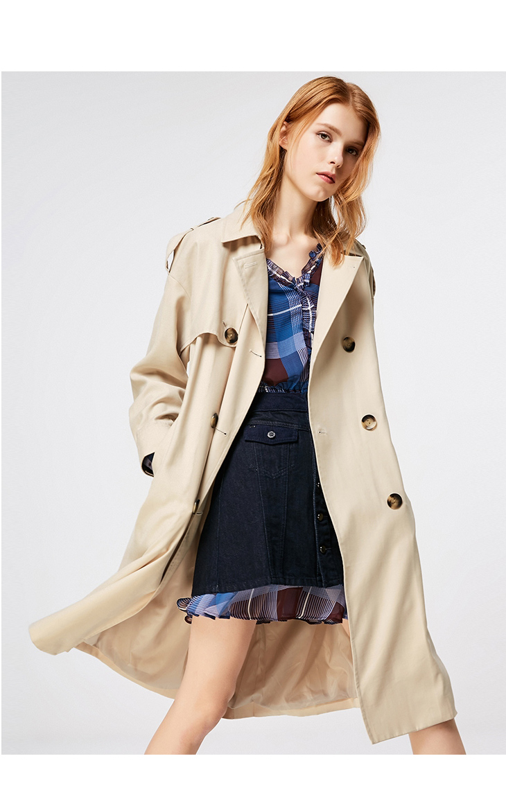 ONLY 19 Women's Loose Fit Long Wind Coat |119136568 12