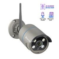 Techage iCsee 1080P بطاقة SD سجل كاميرا لا سلكية واي فاي 2-Way الصوت والفيديو في الهواء الطلق للرؤية الليلية المراقبة الأمنية cctv