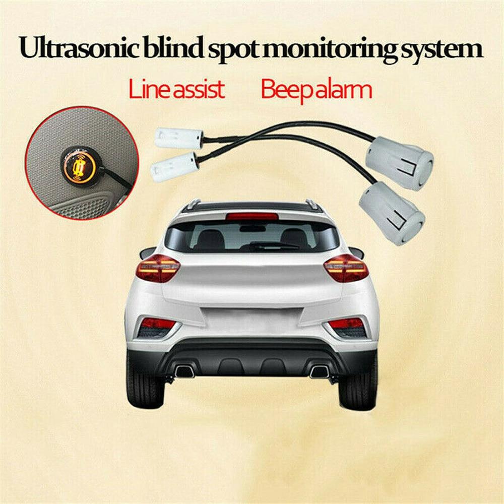 1 Set Car Blind Spot Monitoring System Ultrasonic Sensor Lane Change Reversing BSD Radar Detection System  Car Blind Sensor