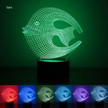 Colorful 3D Night Light Coral fish Night Light Eye Care LED Light Bedside Night Lamp Home Decoration Birthday Gift waterproof colorful led cube night light vc a300