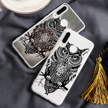 Owl Black Pattern Phone Case For Huawei Mate 20 30 10 P20 P30 P10 Lite Pro Plus P Smart 2019 Animal Soft TPU Coques Fundas Cover(China)