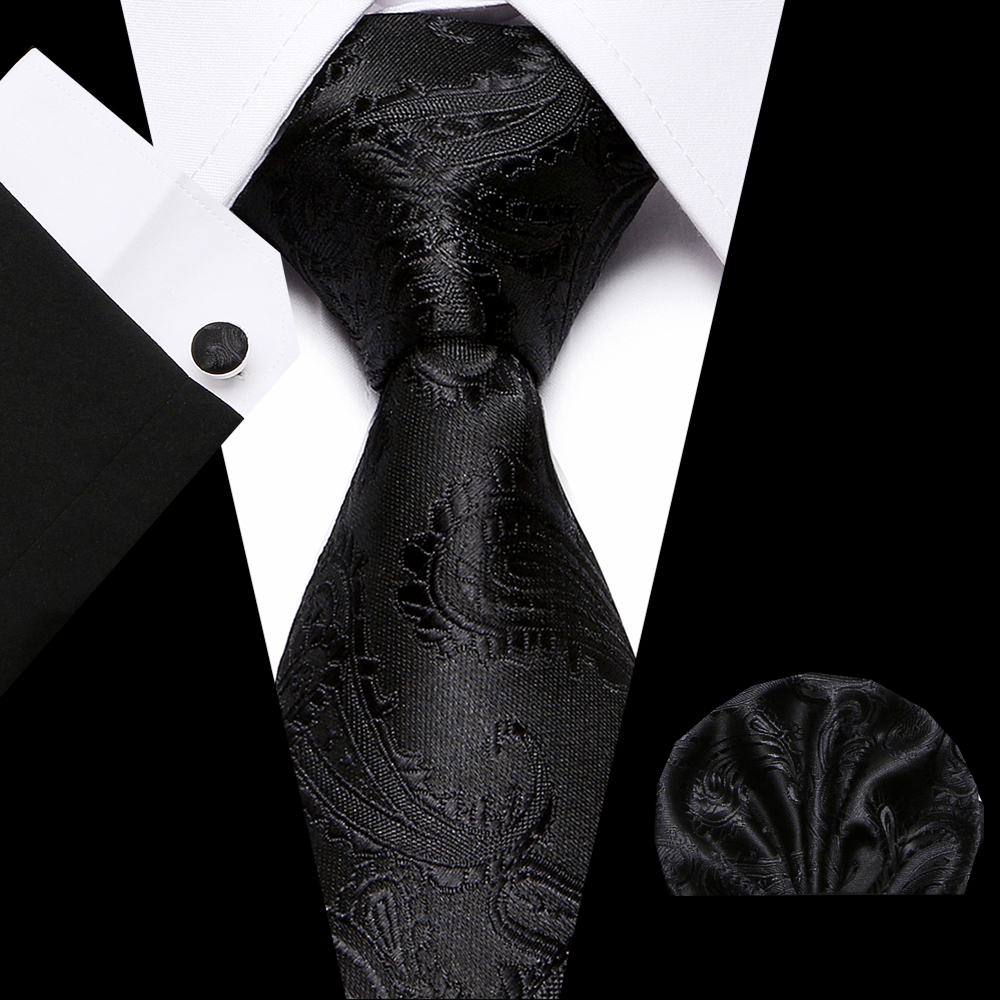 2019 Men's Fashion Classic Jacquard Tie Paisley Cashew Tie Pocket Towel Cuffs Three-Piece Party Tie