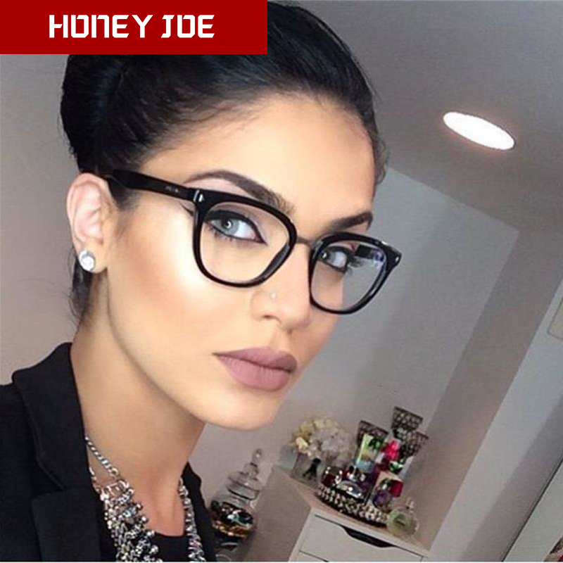 Women Men Eyeglasses Computer Gaming Glasses Anti Blue Light UV400 Vintage Spectacles Square Frame Clear Lens Black Ladies Rivet