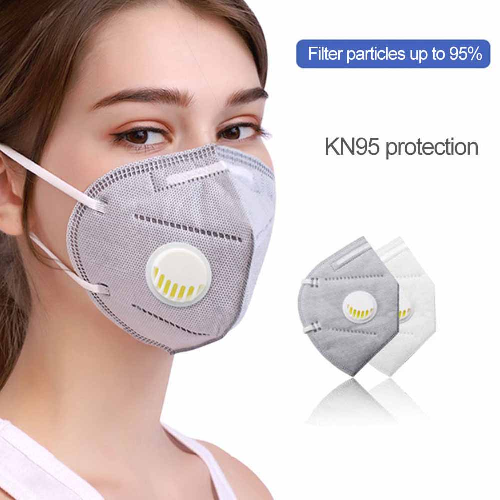Reusable KN95 Mask Valved Face Mask FFP2 Mascherine Respirator Face Mask 6 Layer Protection Face Anti-dust Fast Dropshipping 3