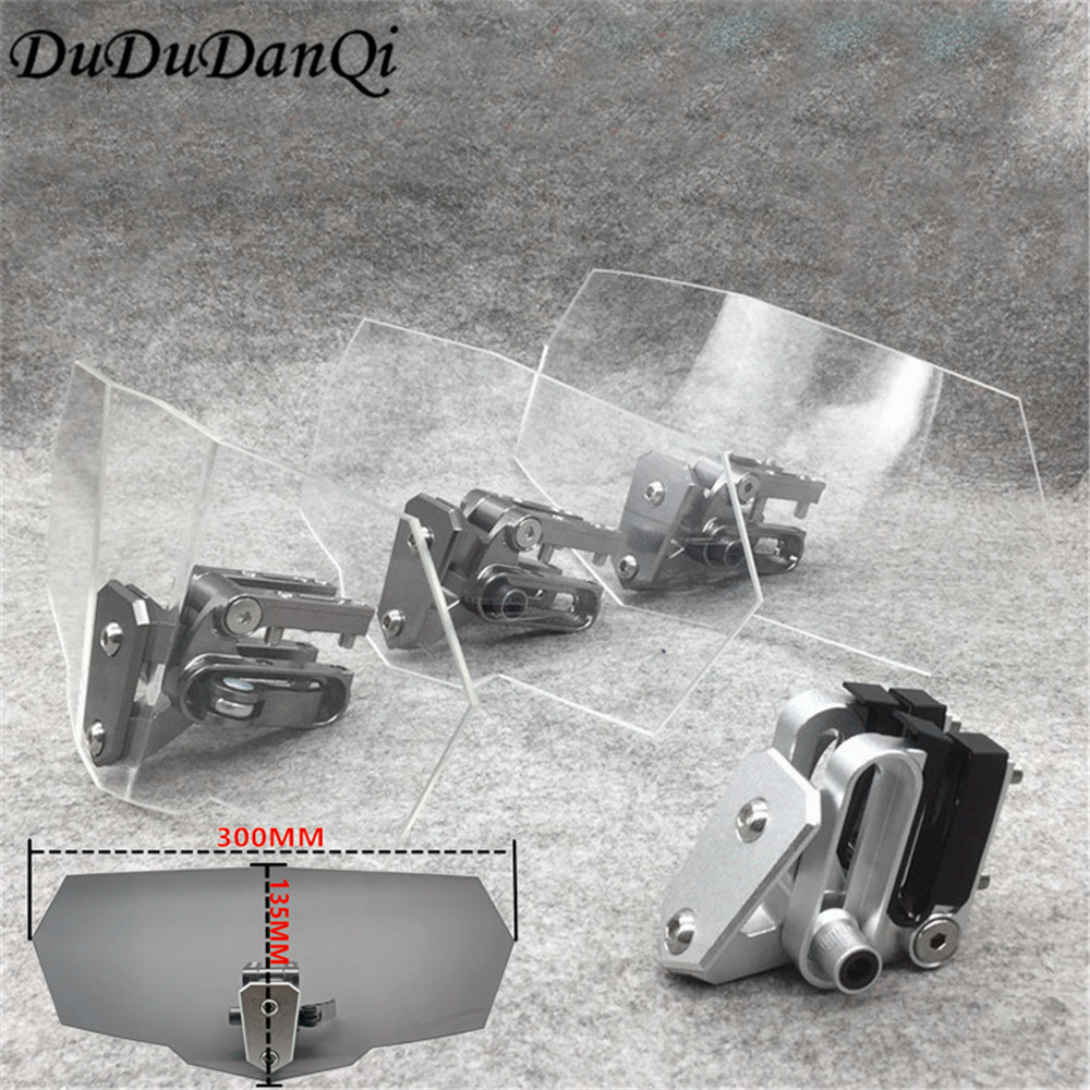 Fluxo de ar ajustável windscreen defletor vento da motocicleta universal para kawasaki bmw ducati honda benelli ktm triumph