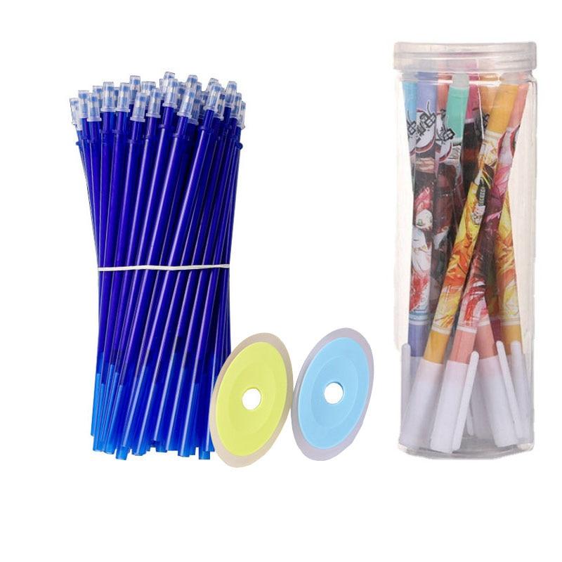54pcs/set Demon Slayer Erasable Gel Pen Set Refills Rod 0.5mm Washable Handle Magic Pen for Office School Supplies Stationery