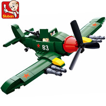 170Pcs Military WW2 Soviet Union IL 2 Attack Planes Fighter Building Blocks Sets Toys ARMY LegoINGLs DIY Bricks Christmas Gifts