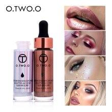 O.TWO.O, жидкое косметическое средство для макияжа, косметический крем, основа, блестящее лицо, румяна, очень концентрированные, светящиеся бронзовые капли