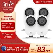 Caméra maison YI 4pc, système intelligent de Surveillance de sécurité IP Wi Fi 1080p avec Vision nocturne, moniteur bébé sur iOS, application Android