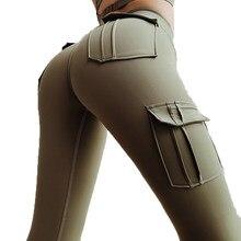 Ogilvy – Legging Sexy Push Up pour femmes, legging de fitness, poches, taille haute, gothique, respirant, en Polyester, punk