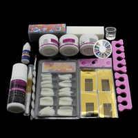 Kit de conseils pour l'art des ongles Pro Pro Kit de bricolage en acrylique pour ongles liquide en poudre