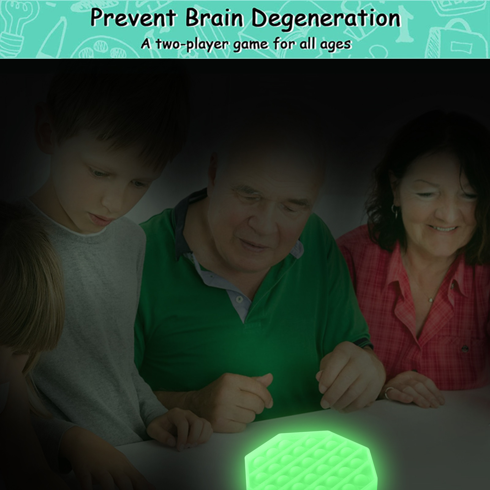 It-Toys Bubble-It-Fidget Popit Luminous-Pop Silicone Toy Stress-Game Figet Kids for Autism img5