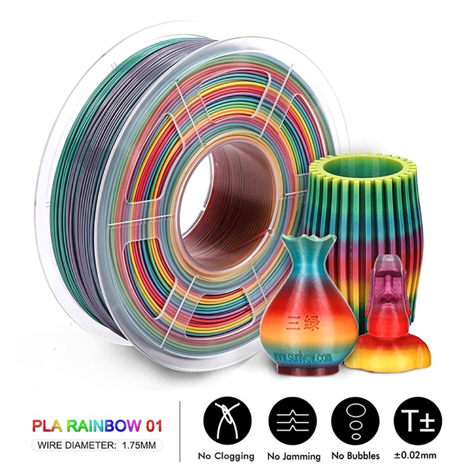 seda, arco-íris, filamento em plástico pla pla