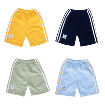 Letnie spodenki dziecięce bawełniane szorty dla chłopców dziewczęce spodenki dziecięce majtki dziecięce plażowe krótkie spodnie sportowe dziecięce spodnie rekreacyjne tanie i dobre opinie COTTON CN (pochodzenie) Pasuje prawda na wymiar weź swój normalny rozmiar Chłopcy YH351 Na co dzień Sznurek Stałe