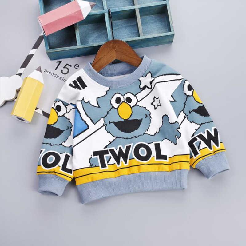패션 아기 풀오버 가을 만화 패턴 소년 스웨터 신생아 소프트 탑 봄 후드 9M-4T 유아 겉옷
