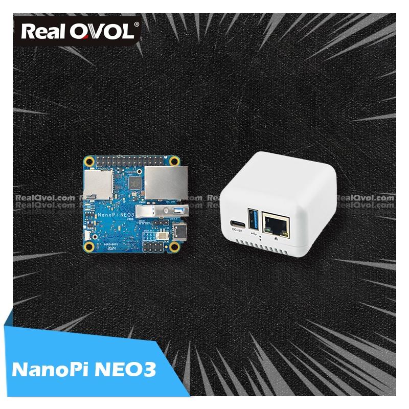RealQvol FriendlyElec NanoPi NEO3 1GB/2GB DDR4 RK3328 Cortex A53 Quad-core 64-bi поддержка Linux Ubuntu Core Upgrade Nanopi NEO2