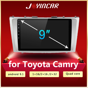 2 din Android 9.1 car Radio Multimedia Player For Toyota Camry 6 XV 40 50 2006 - 2011 Auto 2din stereo DVD GPS Navigation FM image