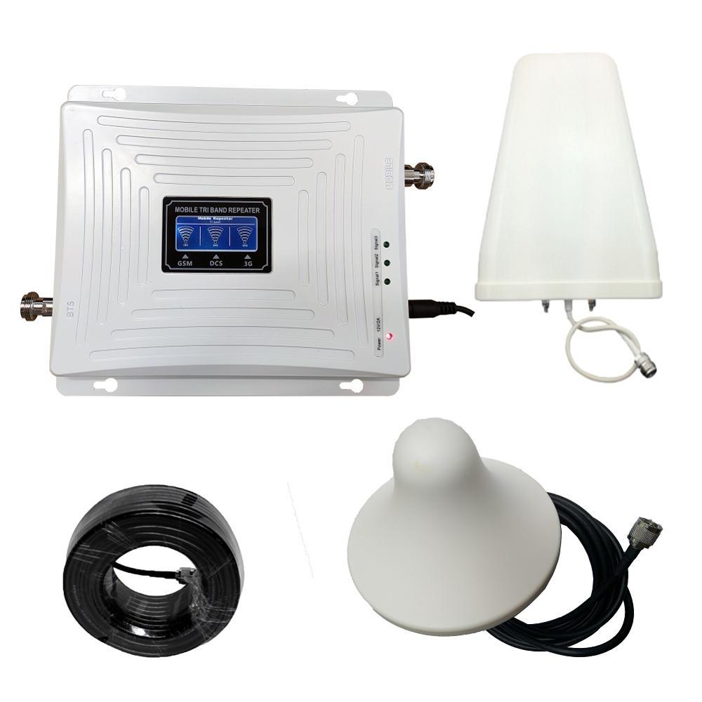 900 1800 2100 mhz amplificateur de Signal Mobile Tri bande amplificateur de téléphone portable 2G 3G 4G LTE répéteur cellulaire GSM DCS WCDMA