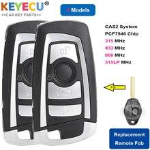 KEYECU 2 個修正フリップリモート車のキー bmw CAS2 1 3 5 6 シリーズ E93 E60 Z4 X5 x3 、 315MHz 433MHz 868 MHz PCF7946 チップ HU92