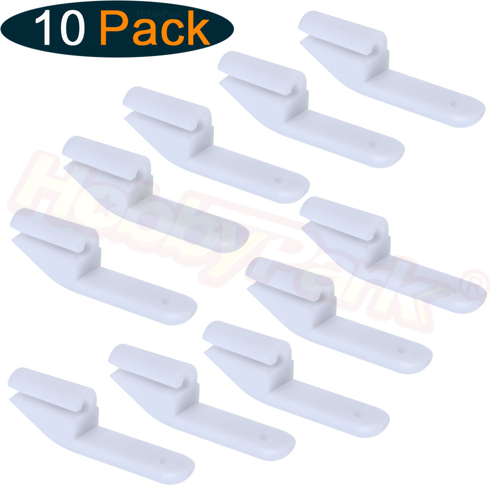 10 Pieces POM Snap-Click Style Clevis 2x23x8mm Fit 2mm Rod Parts For RC Airplanes Replacement