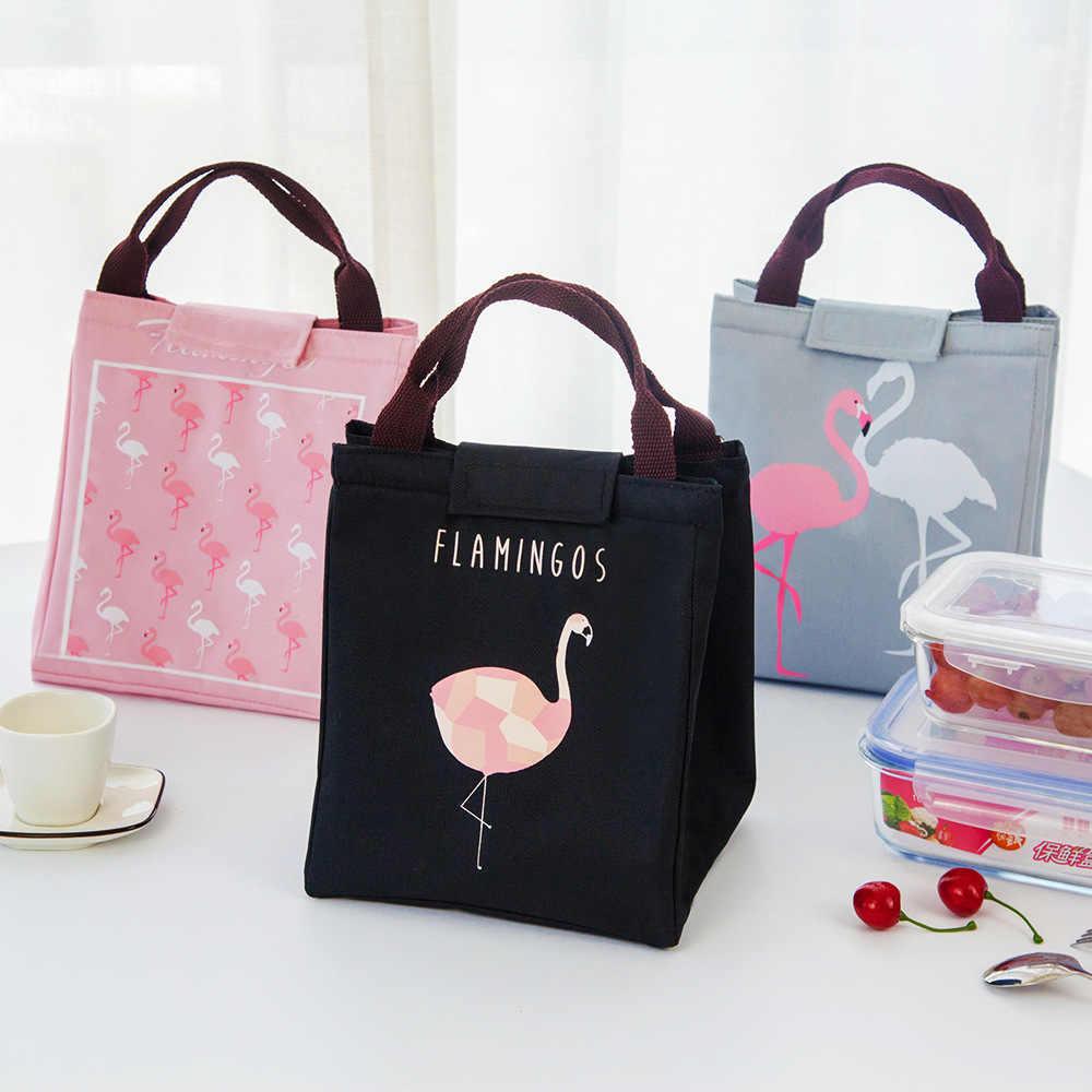 Bolsas de aislamiento de leche y comida para bebés, bolsa Oxford impermeable con flamenco para almacenamiento, bolsa de almuerzo, bolsa térmica para calentador de Comida Infantil