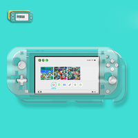 crystal screen Crystal Transparent Case for Nintend Switch Lite Hard PC Protection Cover For Nintendo switch Lite Screen Tempered Glass Film (4)