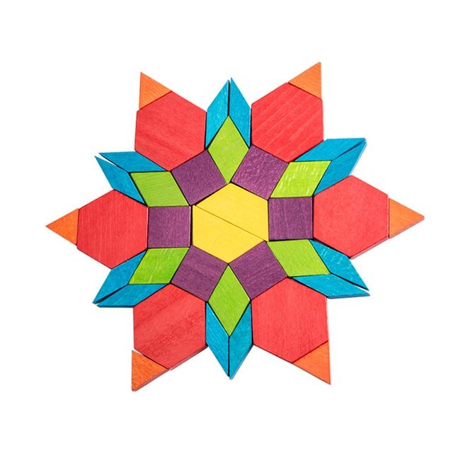 MiDeer Color Building Blocks Geometric Shape Color Cognition Building Wooden Blocks Children Building Blocks Toy