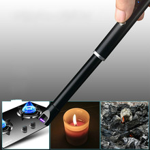 Kitchen BBQ-Lighter Arc Rotation Pulse  Electronic Lighters Rechargeable USB Portable Windproof Lighter