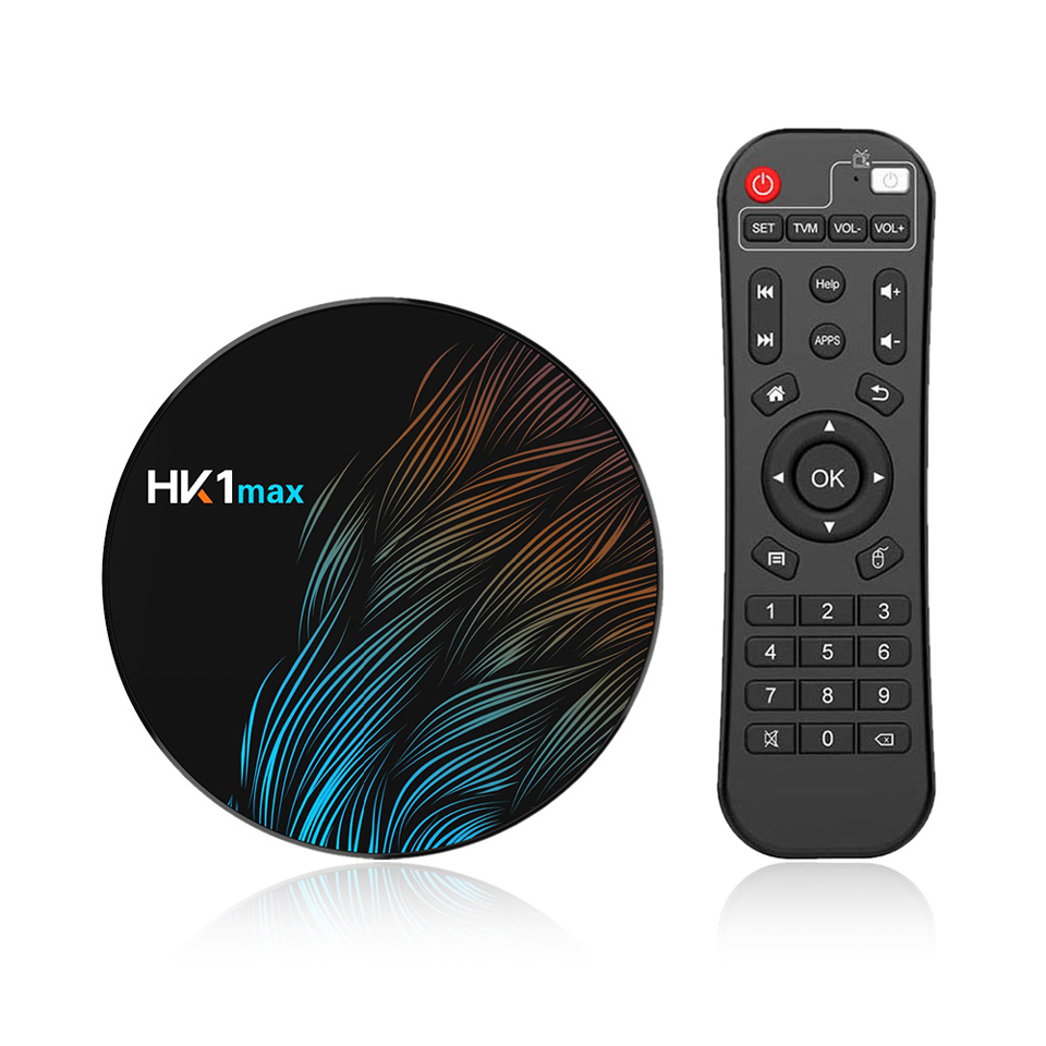 HK1MAX Android 9,0 2G16G Smart TV четырехъядерный LAN 100M Full HD 1080P 4K 3D HDMI 2,0 2,4 GWifi без подписки image