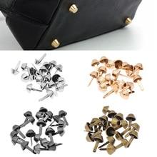 Metal-Bag Purse Handbag Rivets Nail-Decoration-Accessories Feet Studs-Pierced Craft 20PCS